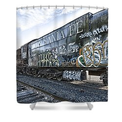 4 8 4 Atsf 2925 In Repose Shower Curtain by Jim Thompson