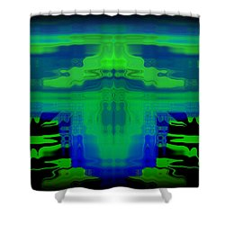 Abstract 101 Shower Curtain by J D Owen