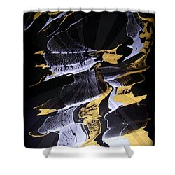 Abstract 31 Shower Curtain by J D Owen
