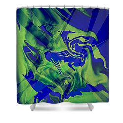Abstract 32 Shower Curtain by J D Owen