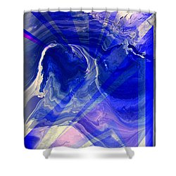 Abstract 36 Shower Curtain by J D Owen
