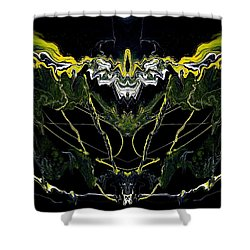 Abstract 42 Shower Curtain by J D Owen