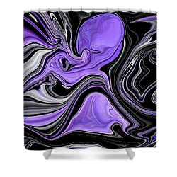 Abstract 57 Shower Curtain by J D Owen