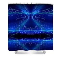 Abstract 76 Shower Curtain