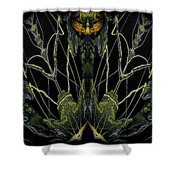 Abstract 92 Shower Curtain by J D Owen