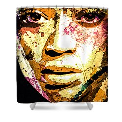 Beyonce Shower Curtain by Svelby Art