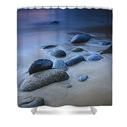Shower Curtain featuring the photograph Campelo Beach Galicia Spain by Pablo Avanzini