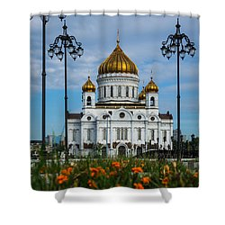 Cathedral Of Christ The Savior Of Moscow - Russia - Featured 3 Shower Curtain