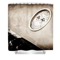 Chevrolet Corvette Hood Emblem Shower Curtain by Jill Reger