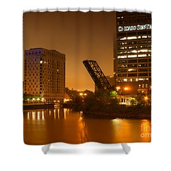 Chicago Shower Curtain by Miguel Winterpacht