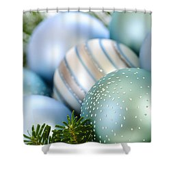 Christmas Ornaments Shower Curtain by Elena Elisseeva