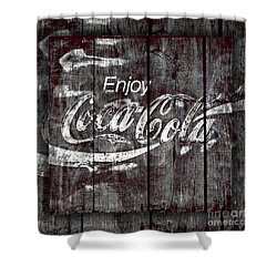 Coca Cola Sign Shower Curtain by John Stephens