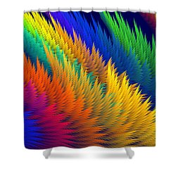 Computer Generated Abstract Fractal Flame Shower Curtain by Keith Webber Jr