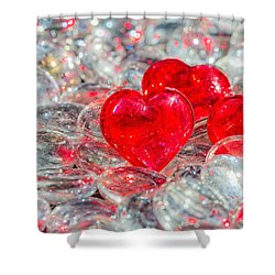 Crystal Heart Shower Curtain by Peter Lakomy