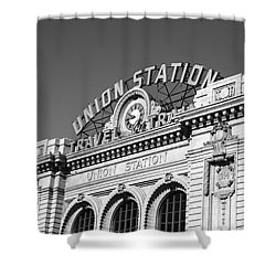 Denver - Union Station Shower Curtain by Frank Romeo