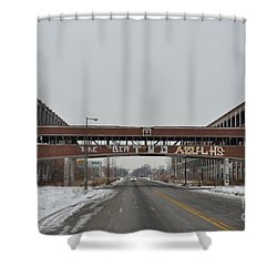 Detroit Packard Plant Shower Curtain by Randy J Heath