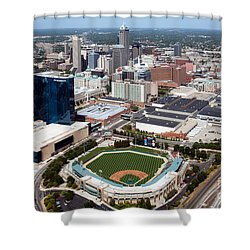 Downtown Indianpolis Indiana  Shower Curtain by Bill Cobb