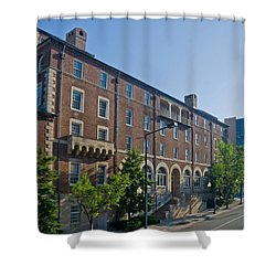 Downtown Knoxville Shower Curtain by Melinda Fawver