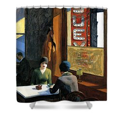 Chop Suey Shower Curtain by Edward Hopper