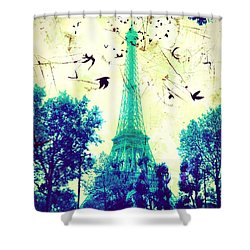 Eiffel Tower Shower Curtain
