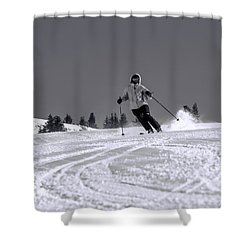 First Run Shower Curtain by Sebastian Musial