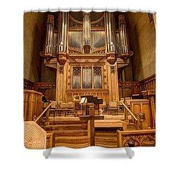 Hennepin Avenue Methodist Church Shower Curtain by Amanda Stadther