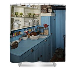 Heritage Cottage Museum On Bowen Island Shower Curtain by Carol Ailles