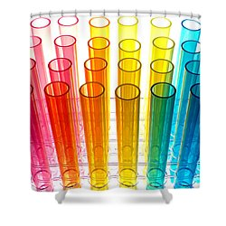 Laboratory Test Tubes In Science Research Lab Shower Curtain by Olivier Le Queinec