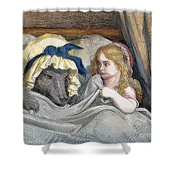 Little Red Riding Hood Shower Curtain by Granger