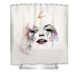 Marilyn Monroe Shower Curtain by Mark Ashkenazi