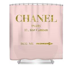 Mileage Distance Chanel Paris Shower Curtain