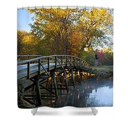 Old North Bridge Concord Shower Curtain by Brian Jannsen