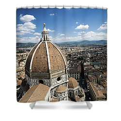 Piazza Del Duomo With Basilica Of Saint Shower Curtain by Evgeny Kuklev