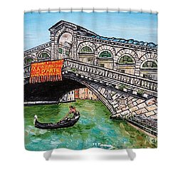 Ponte Di Rialto Shower Curtain