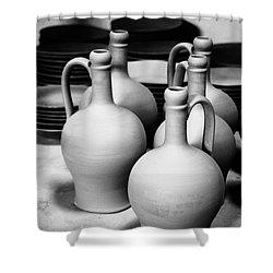 Pottery Shower Curtain by Gaspar Avila