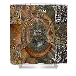 Rareearth Rare Earth Stones Minerals Microphotography Micro Photography Tiled Square Silver Chrome B Shower Curtain