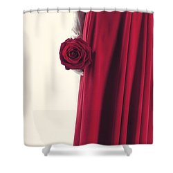 Red Rose Shower Curtain by Joana Kruse