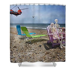 Search Party Shower Curtain