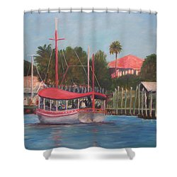 Tarpon Springs Florida Shower Curtain