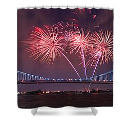 4 Th Of July Firework Shower Curtain