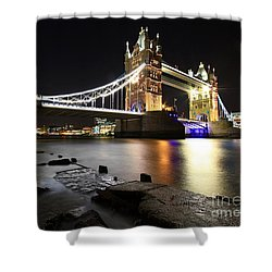 Tower Bridge London Shower Curtain by Mariusz Czajkowski