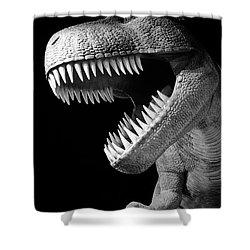 Tyrannosaurus Rex Dinosaur Shower Curtain by Gaspar Avila