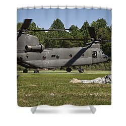 U.s. Soldiers Provide Security Shower Curtain by Stocktrek Images