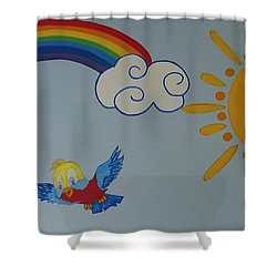 Wall Painting Shower Curtain