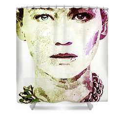 Jennifer Lawrence Shower Curtain by Svelby Art