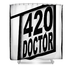 420 Doctor Shower Curtain by John Rizzuto