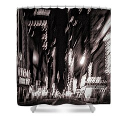 42nd Street Shower Curtain by H James Hoff