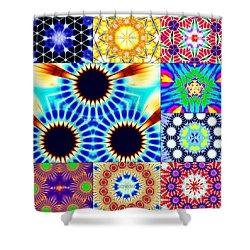 432hz Cymatics Grid Shower Curtain