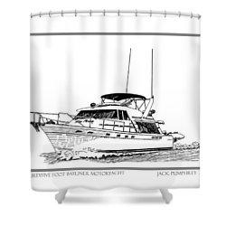 45 Foot Bayliner Motoryacht Shower Curtain by Jack Pumphrey