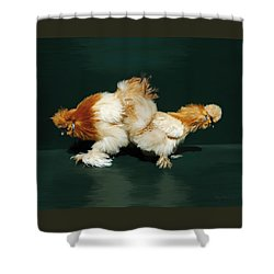 45. Sand Silkies Shower Curtain
